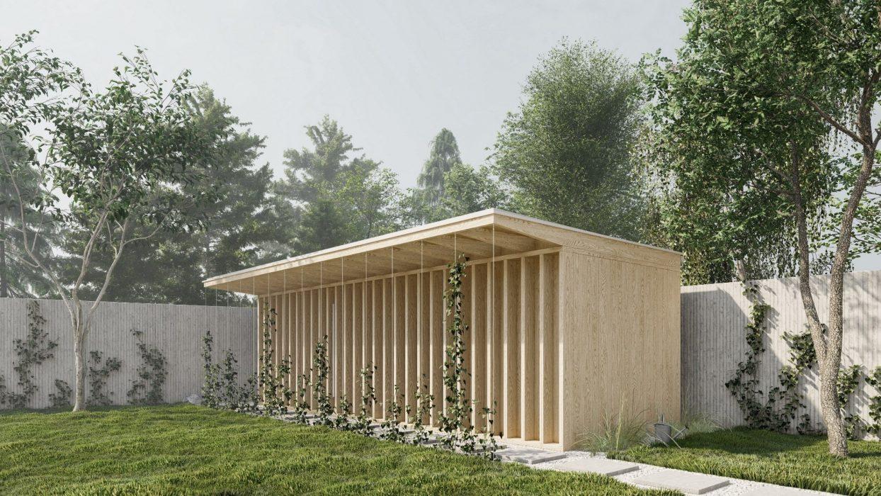 Drevená sauna s LED osvetlením