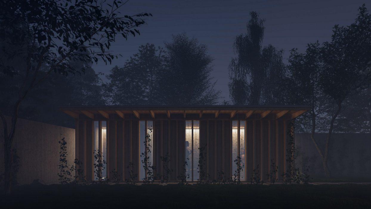 Návrh osvetlenia drevenej sauny