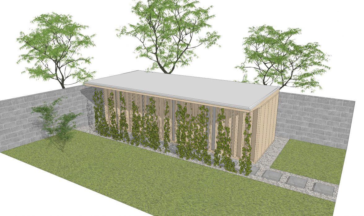 Návrh drevenej sauny