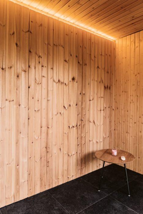 Osvetlenie interiéru sauny